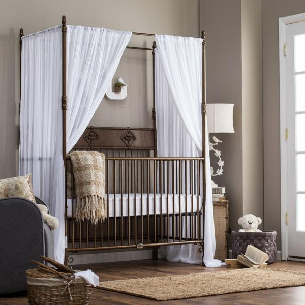 babyzimmer babybett elegantes design gitterbett