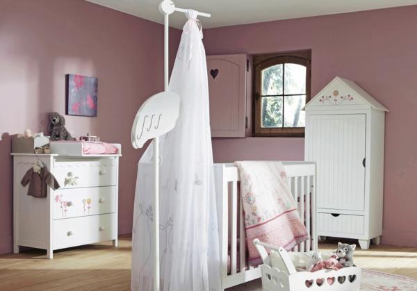 babyzimmer babybettchen design mädchen