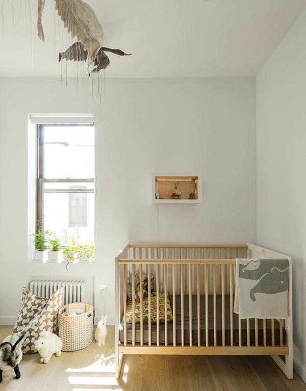 babyzimmer einrichten babybettchen design pflanzen spielzeuge