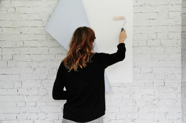 Wand stein imitat verschiedene ideen f r die raumgestaltung inspiration - Backsteinwand selber machen ...