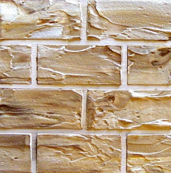 Wanddeko selber machen: gefälschte Backsteinwand als ...