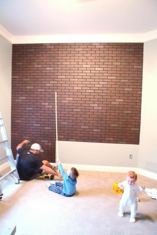 Painting Fake Red Bricks On Drywall