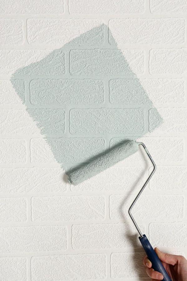 backsteinwand imitat weiß wanddeko selber machen ziegelwand streichen