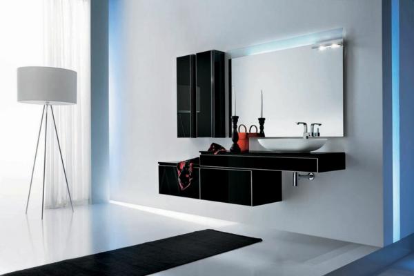 badeinrichtung badezimmer möbel hochglanz schwarz