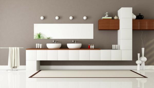 Badeinrichtung Design Modern Einheitlich Holz Weiß