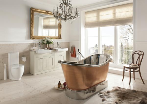 neobarock wohnzimmer:Stilvolle Badeinrichtung – moderne Interpretation der Vergangenheit