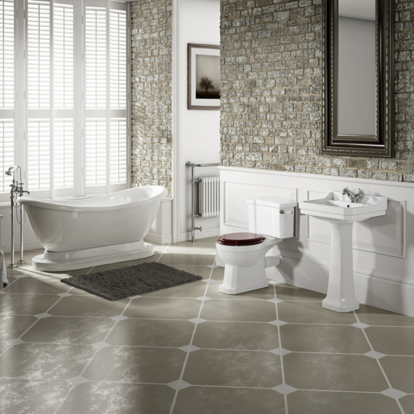 stilvolle badeinrichtung - moderne interpretation der vergangenheit, Hause ideen