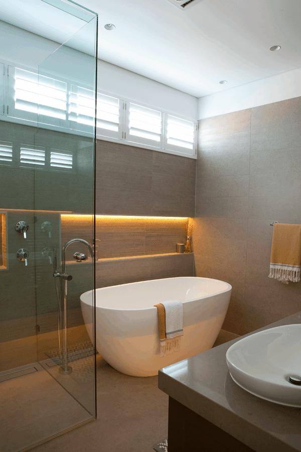 badewanne freistehend badezimmer beispiele dusche glaswände