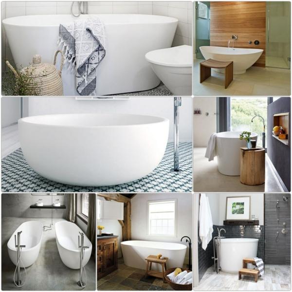 Badewanne freistehend ideen und inspirierende badezimmer for Tapeten badezimmer beispiele