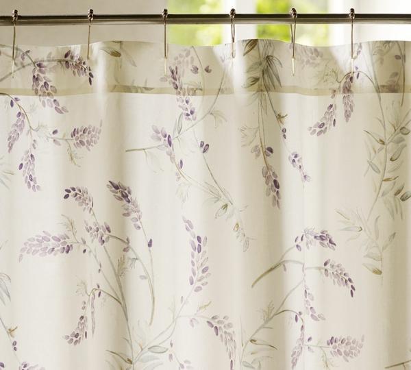 badezimmer vorhang florale motive frisches muster