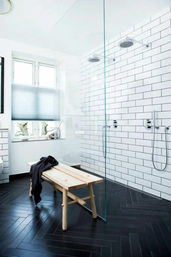 Badezimmergestaltung mit fliesen interessante beispiele und tipps - Gemusterte fliesen ...