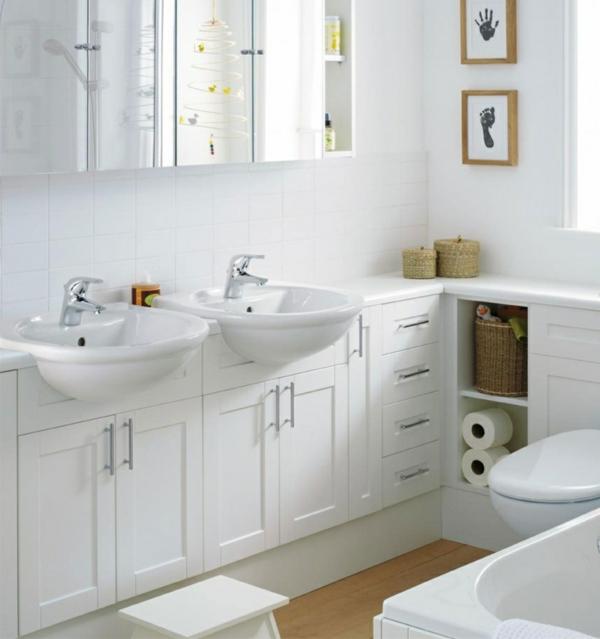 badideen kleines bad weiße einrichtung frisch