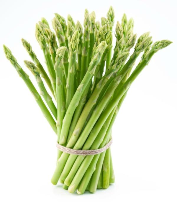 basische lebensmittel spargel grün