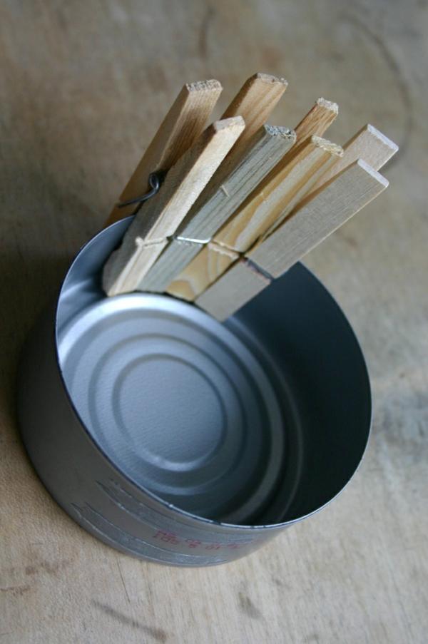 basteln mit wäscheklammern anleitung blechdosen