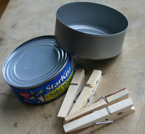 Untersetzer Holz Wäscheklammern ~ basteln mit wäscheklammern holz alte blechdosen