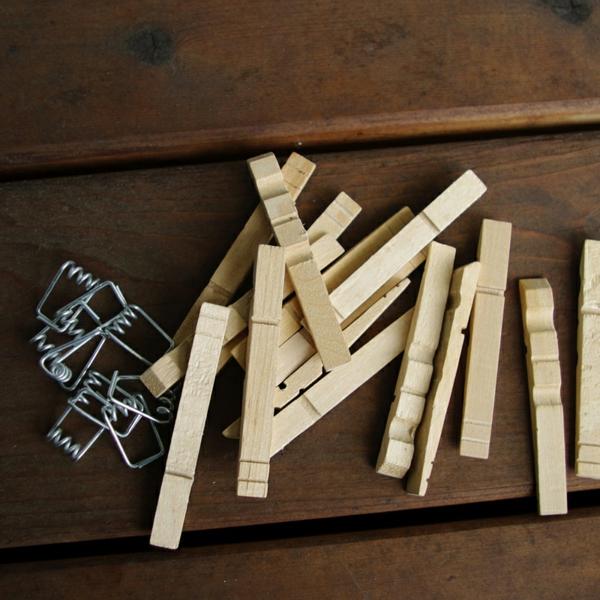 Untersetzer Holz Wäscheklammern ~ Kreatives Basteln mit Wäscheklammern aus Holz