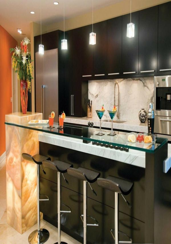 beleuchtung küche direkt pendelleuchten kücheninsel