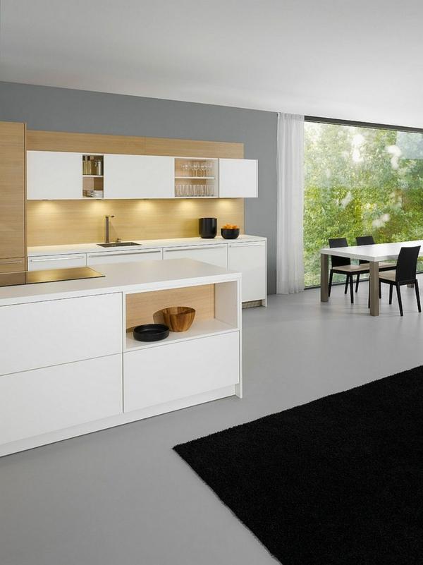 beleuchtung küche küchenschränke leuchten modernes interieur
