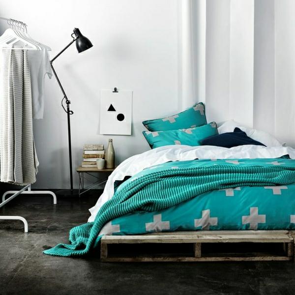 44 Beispiele Wie Schlafräume: Bett Aus Paletten Im Eigenen Schlafzimmer