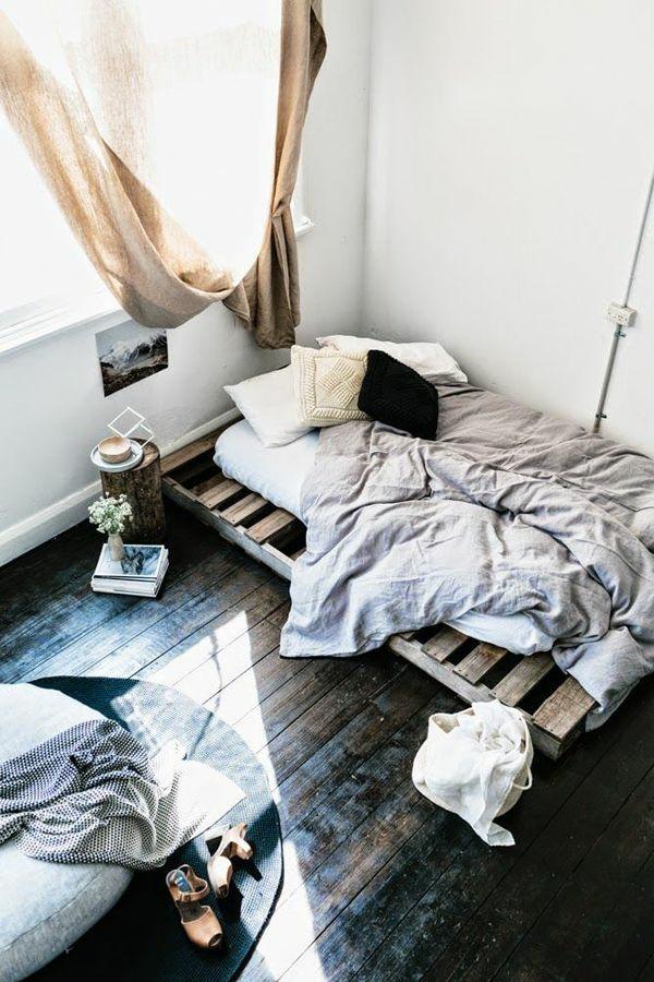 bett aus paletten bauen schlafzimmer ideen möbel