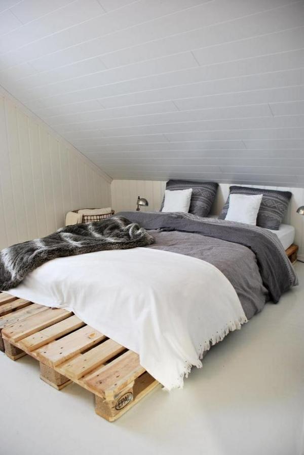 bett aus paletten schlafzimmer möbel dachzimmer einrichten