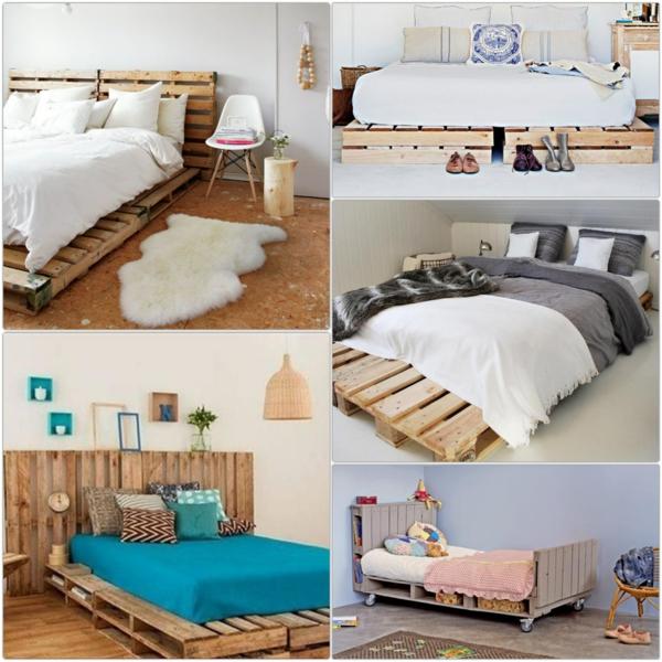 bett aus paletten selber bauen rustikale möbel holz