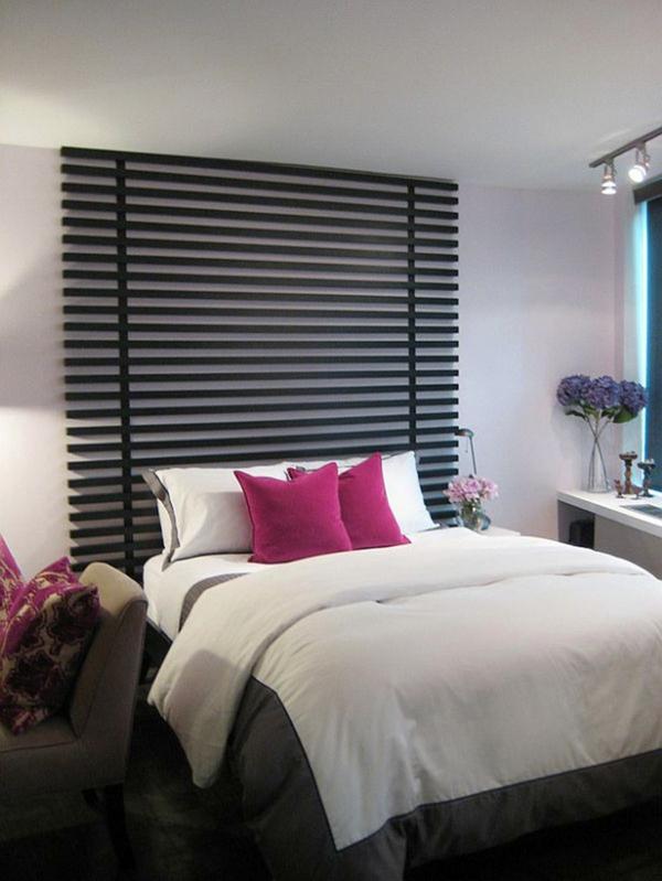 bett kopfteil interessante designs f r ein attraktives schlafzimmer. Black Bedroom Furniture Sets. Home Design Ideas