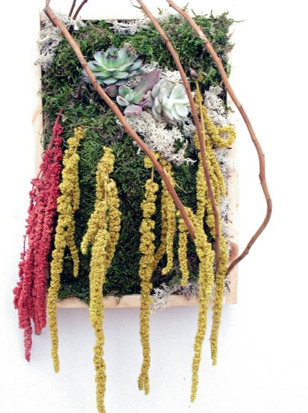 Blumendekoration Lebendige Wanddekoration Aus Blumen Und