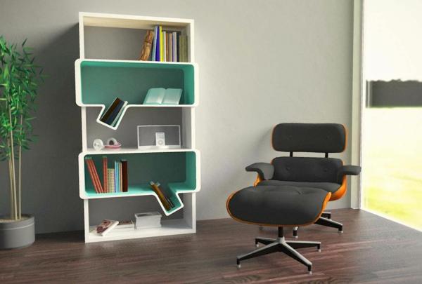 Bücherregal Modern bücherregal wand designer wandregale im wohnzimmer