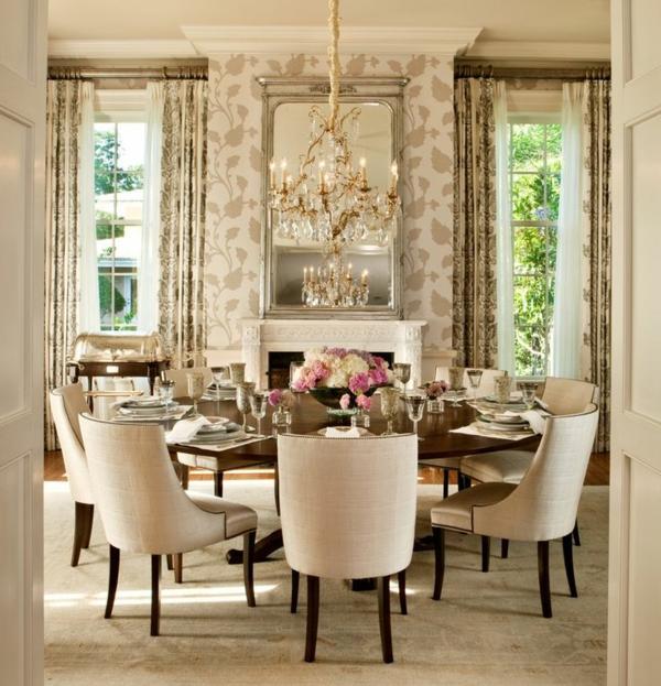 design klassiker möbel esszimmertisch mit stühlen