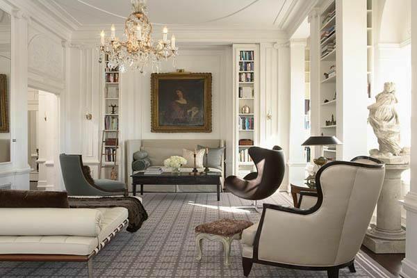 design klassiker möbel wohnbereich aristokratische atmosphäre