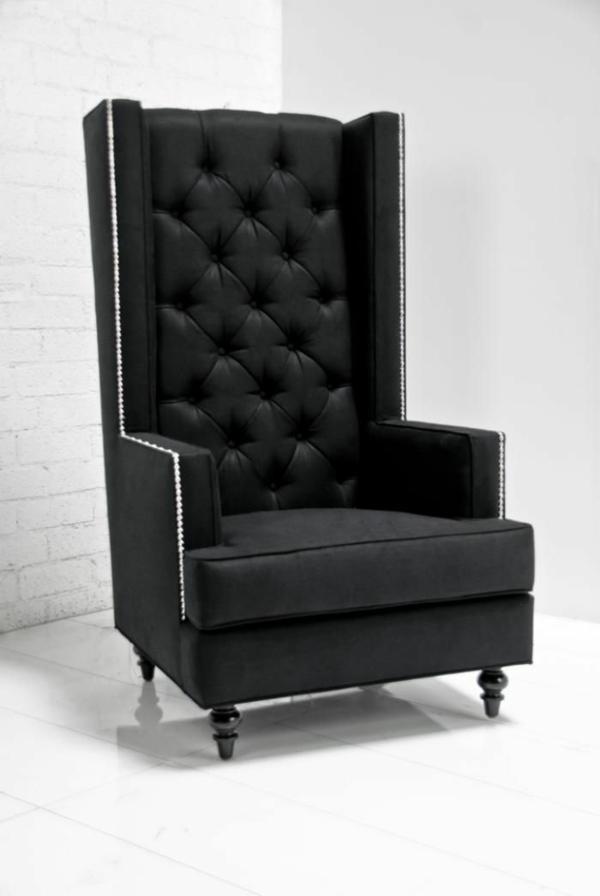 design klassiker sessel schwarz luxus möbel
