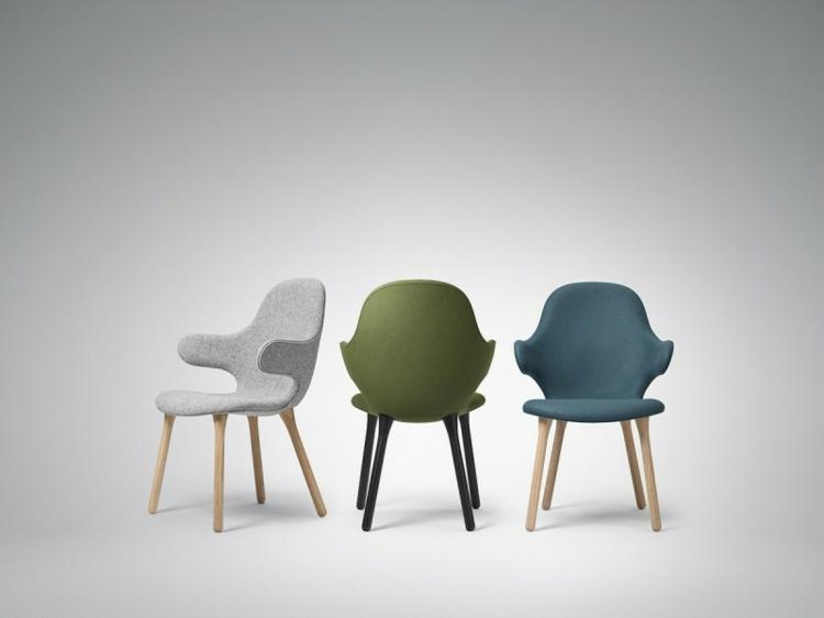 design stühle Catch Chair &Tradition grau grün blau
