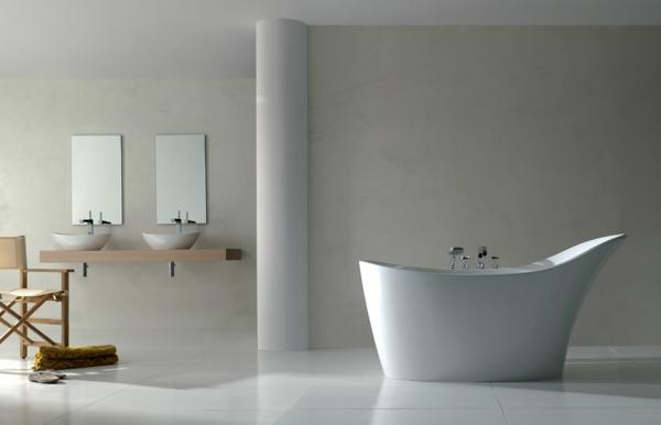 designer-badezimmer minimalistisch weiß