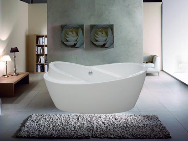 Designer Badezimmer Ovale Badewanne Offener Wohnplan