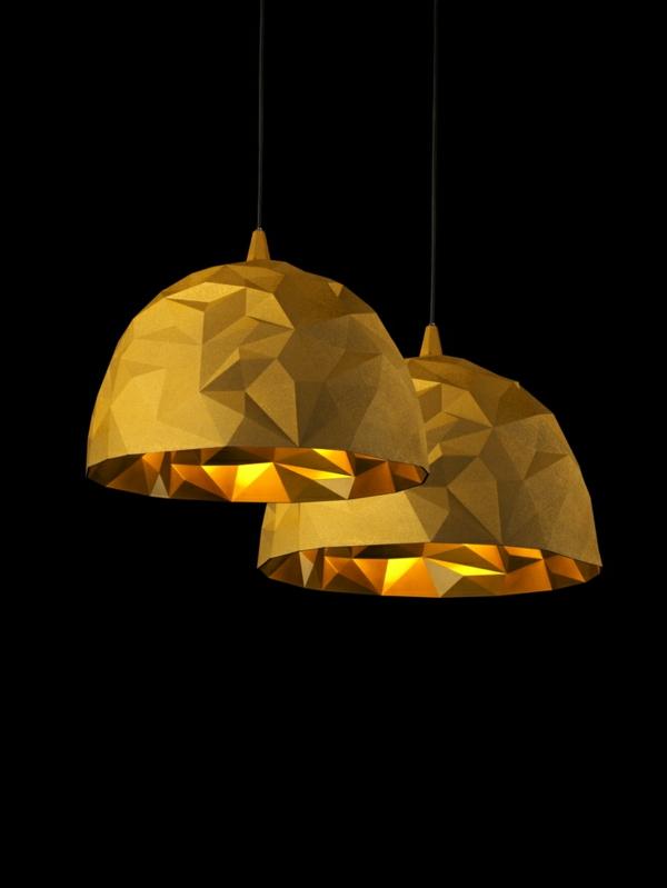 designer lampen Diesel Foscarini gold geometrische oberfläche