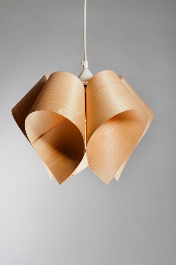designer leuchten aus Furnier zukunft des materials pendelleuchte