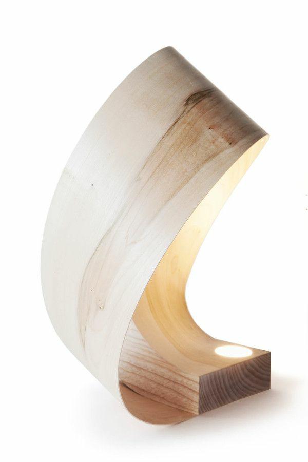 designer leuchten aus Furnier zukunft des materials tischlampe