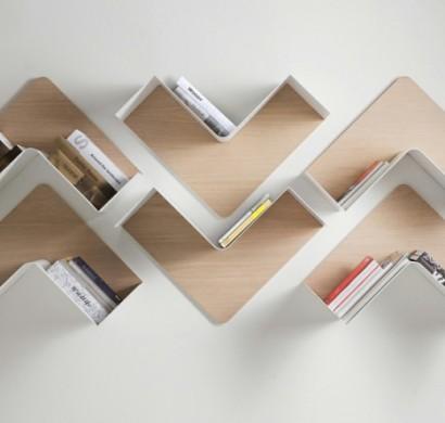 Design Bücherregale designer regale fishbone wandregale b line sind anpassungsfähig