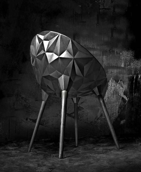 designer sessel ausgefallener sessel schwarze oberfläche Diesel