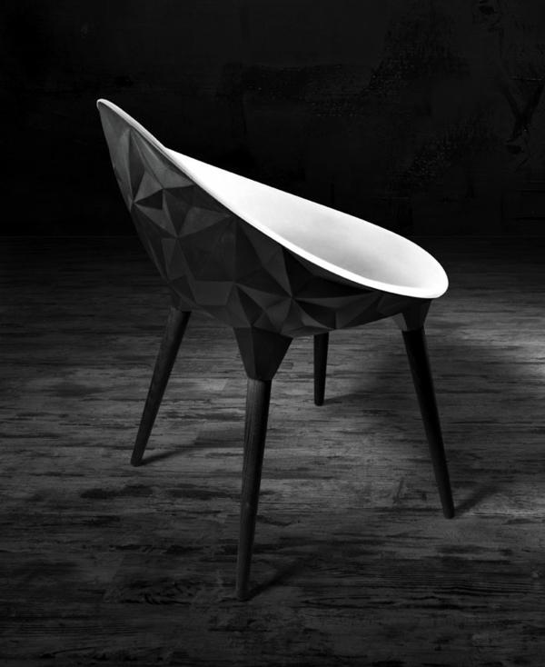 designer sessel schwarz weiß design Diesel