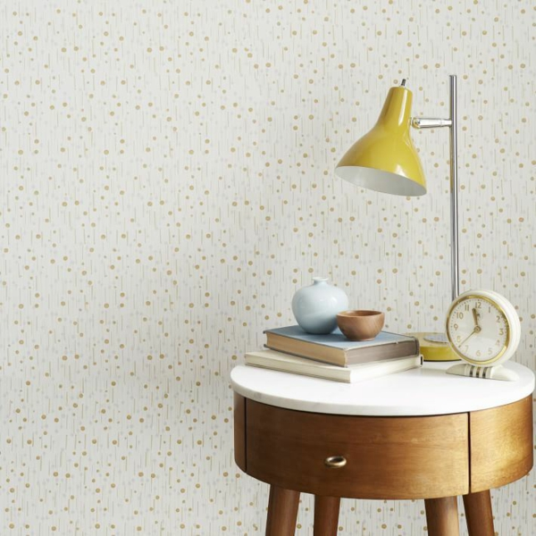 designer tapeten minimalistisch retro