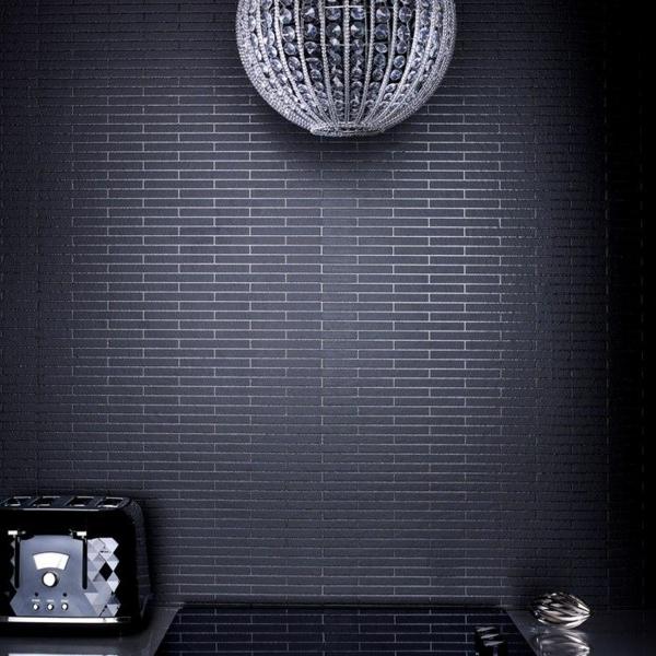 designer tapeten minimalistisch schwarz fliesen optik