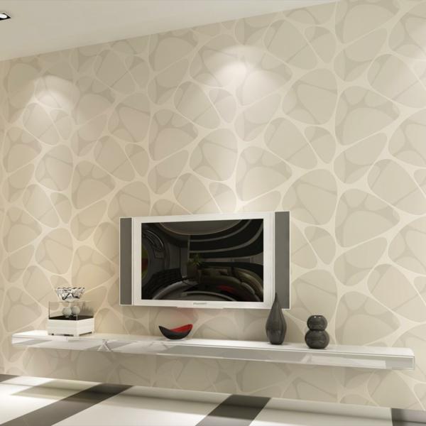designer tapeten minimalistische muster steine stilisiert