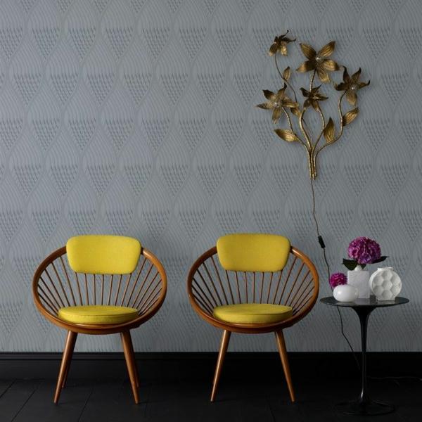 designer tapeten subtile muster geometrisch