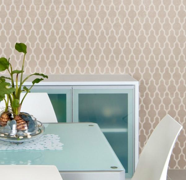 designer tapeten traditionelle muster minimalistisch
