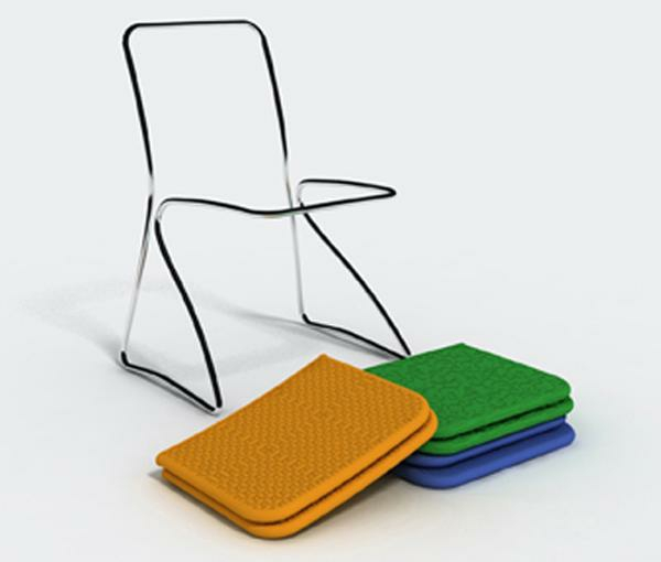 stuhl design dress me chair von baita design studio. Black Bedroom Furniture Sets. Home Design Ideas