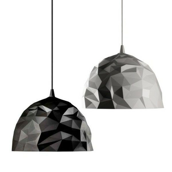 designer lampen diesel foscarini rock pendellampen weiß schwarz geometrisch