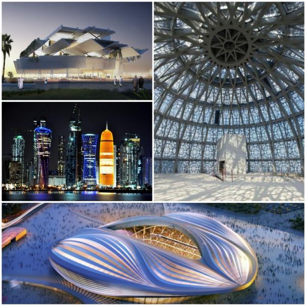doha katar al wakrah stadion olympische spiele Fotor Collage