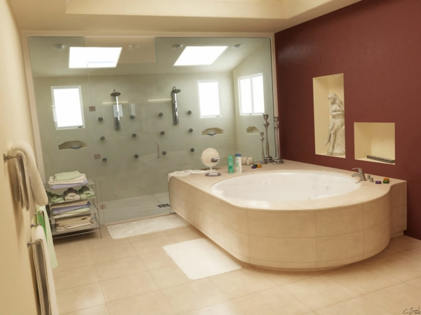 duschkabine doppelt geräumig eingebaute duschen